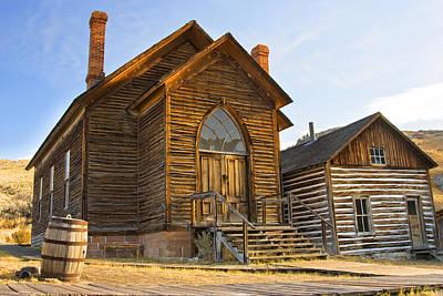 Photograph - Bannack Church In Morning Sun by Sonya Lang