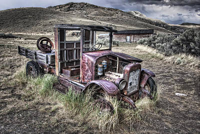 Bannack Ghost Town Photograph - Bannack Ghost Town Truck - Montana by Daniel Hagerman