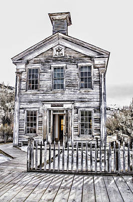 Bannack Historic Masonic Lodge Art Print by Fran Riley