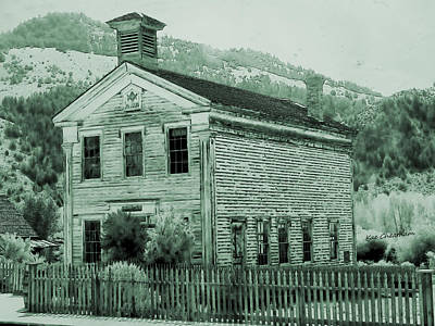 Old Town Digital Art - Bannack Masonic Hall With Toning by Kae Cheatham