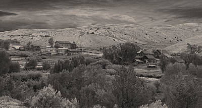Photograph - Bannack Pano D6940 by Wes and Dotty Weber