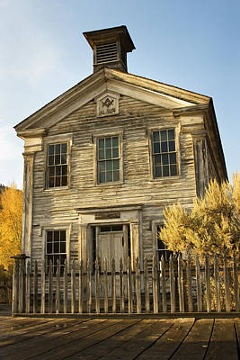 Photograph - Bannack School House by Sonya Lang