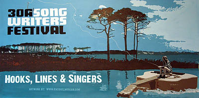 Painting - Banner For 30a Songwriters Festival by Racquel Morgan