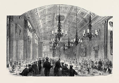 Lord Drawing - Banquet At The Fishmongers Hall On Lord Mayors Day by English School