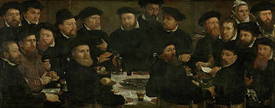 Banquet Of 18 Guardsmen Of Squad L, Amsterdam 1566 Perch Art Print