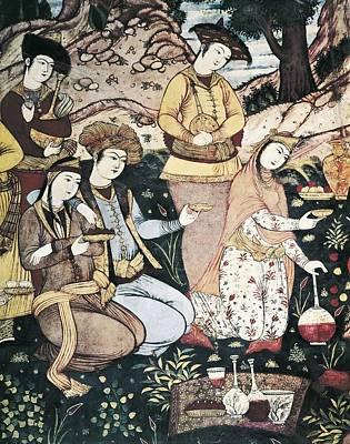 Banquet Of Abbas I. 17th C. Iran Art Print by Everett
