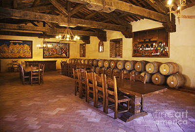 Photograph - Banquet Room Castello Di Amarosa Winery by Craig Lovell