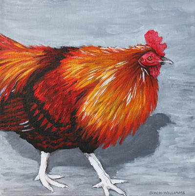 Painting - Bantam Rooster 2 by Penny Birch-Williams