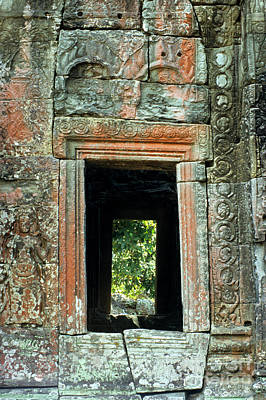 Photograph - Banteay Kdei Temple Window by Rick Piper Photography
