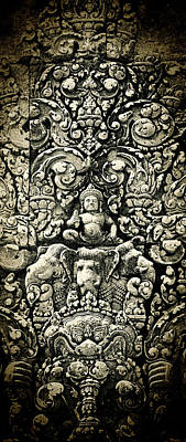 Photograph - Banteay Srei Carvings 2 Unframed Version by Weston Westmoreland