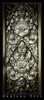 Photograph - Banteay Srei Carvings Framed Version by Weston Westmoreland