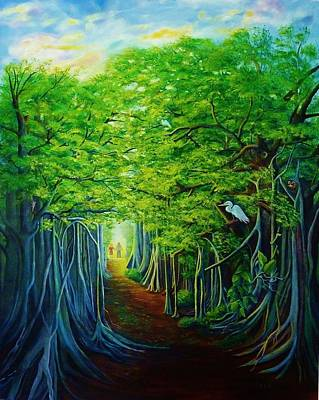 Painting - Banyan Walk by Jane Ricker