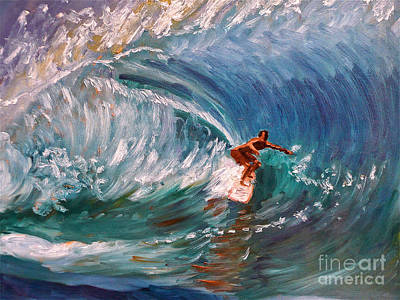 Painting - Banzai Pipeline In Oahu by Amy Fearn