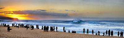 People On The Beach Photograph - Banzai Sunset by Sean Davey