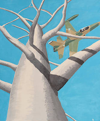 Baobab Painting - Baobab And F-5 - Colour by Jonathan Laverick