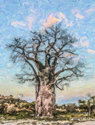 Digital Art - Baobab by Liz Leyden