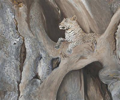 Painting - Baobab Perch by Jini Patel Thompson - JPT