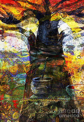 Faniart Mixed Media - Baobab Tree  by Fania Simon