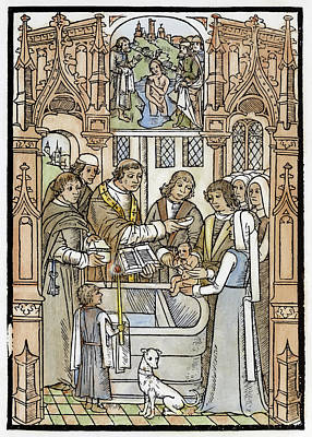 Baptism Painting - Baptism, 1492 by Granger