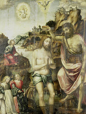 Baptism Drawing - Baptism Of Christ, Anonymous by Litz Collection