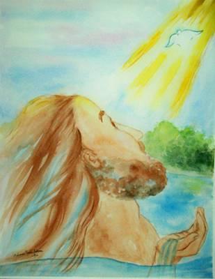 Baptism Of Christ Original by Melanie Palmer