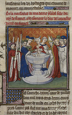 Baptising Photograph - Baptism Of French King's Child by British Library