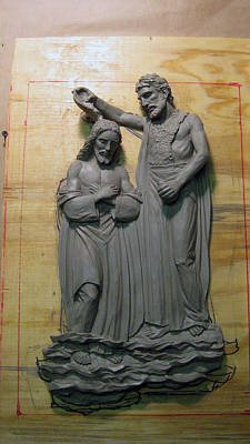 Relief - Baptism Of Jesus 2014 by Patrick RANKIN