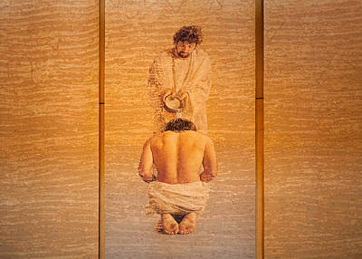 Photograph - Baptism Of Jesus By Saint John The Baptist - Cathedral Of Our Lady Of The Angels Los Angeles by Ram Vasudev