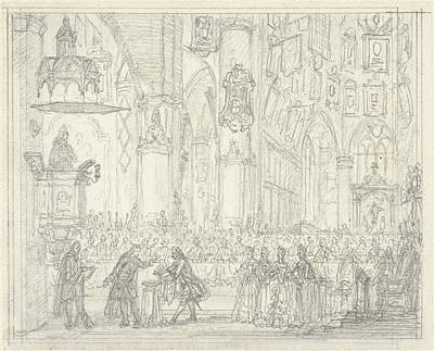 Baptism Drawing - Baptism Of Prince William Frederick, Simon Fokke by Quint Lox