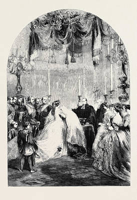 Baptism Drawing - Baptism Of The Infant Prince Frederick William Victor by German School