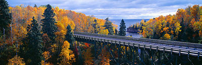 Of Autumn Photograph - Baptism River Into Lake Superior by Panoramic Images
