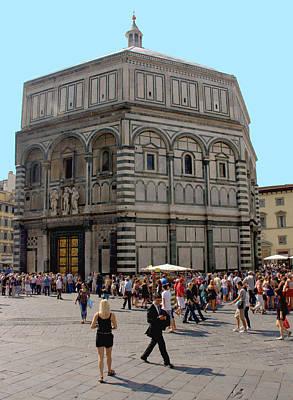 Photograph - Baptistery Of St. John Florence by Caroline Stella