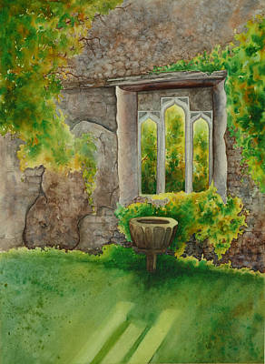 Baptistry At Lainston House  Winchester England Art Print