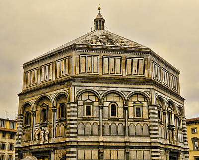 Baptistry Photograph - Baptistry - Florence Italy by Jon Berghoff