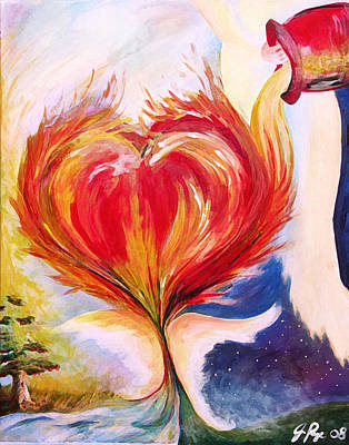 Baptizing Painting - Baptize Me With Holy Fire by Jennifer Page