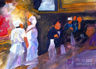 Bar And Grille Art Print by Sandra Stone