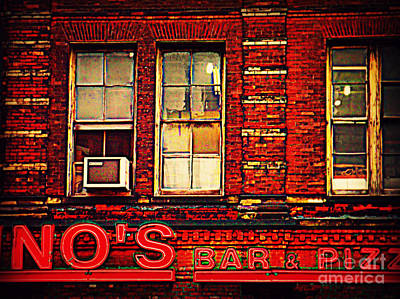 Photograph - Bar And Pizza by Miriam Danar