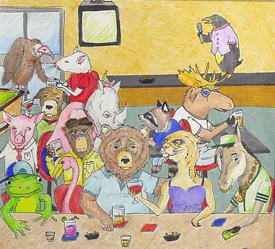 Perception Drawing - Bar Animals by Ryan Sweeney