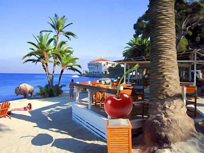 Woman Mixed Media - Bar At Descanso Beach by Snake Jagger