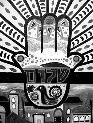 Painting - Bar Bat Mitzvah Hamsa by Pristine Cartera Turkus