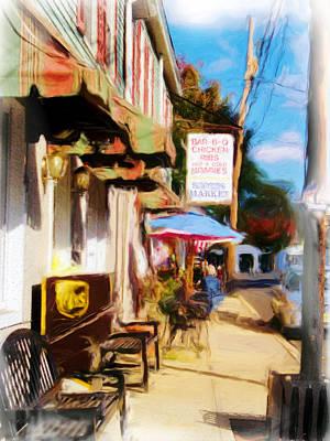 Digital Art - Bar Bq  New Egypt by Rick Todaro