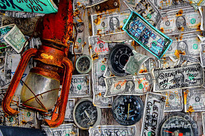 Photograph - The Money Wall - Bar Decor by Rene Triay Photography