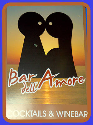 Photograph - Bar Dell Amore by Caroline Stella