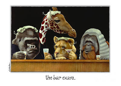 Lawyer Painting - Bar Exam... by Will Bullas
