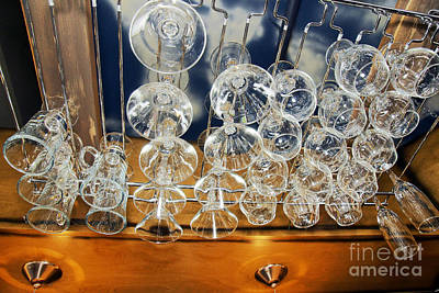 Bar Glass Rack Art Print by Sylvie Bouchard