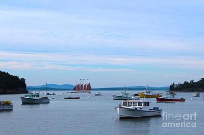 Boats On Water Photograph - Bar Harbor Boats by Kathleen Garman