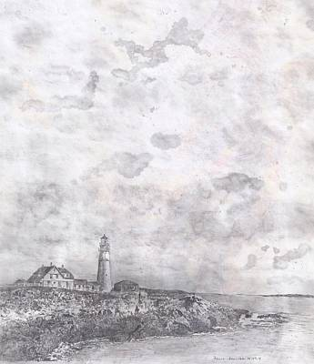 Drawing - Bar Harbor by Joelle Bhullar