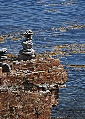 Photograph - Bar Harbor Maine Cairn by Phil Cardamone