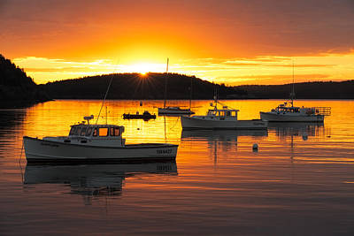 Photograph - Bar Harbor Sunrise by Bernard Chen