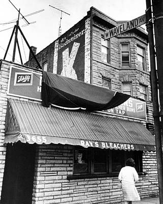 Bleachers Photograph - Bar Outside Wrigley  by Retro Images Archive